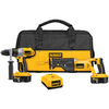 DEWALT 2-Tool 18-Volt Hammer Drill/Reciprocating Saw Combo Kit