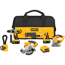 DEWALT 5-Tool 18-Volt Nickel Cadmium Cordless Combo Kit with Soft Case