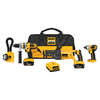 DEWALT 4-Tool 18-Volt Lithium Ion (Li-Ion) Motor Cordless Combo Kit with Soft Case