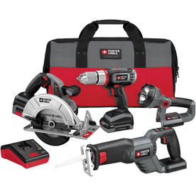 PORTER-CABLE 4-Tool 18-Volt Lithium Ion Cordless Combo Kit with Soft Case