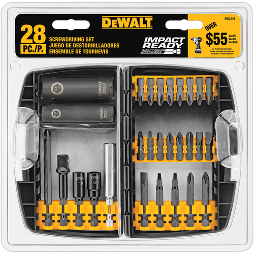 28-Piece Dewalt Screwdriving Bit Set $9.97