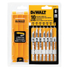 DEWALT 10-Piece U-Shank Jigsaw Blade Set
