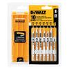DEWALT 10-Pack U-Shank Jigsaw Blade Set
