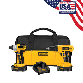 DEWALT 2-Tool 18-Volt Nickel Cadmium (NiCd) Cordless Combo Kit with Soft Case