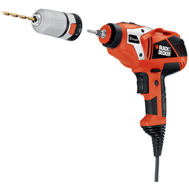 BLACK & DECKER 6-Amp 3/8-in Keyless Corded Drill with Case