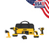 lowes deals on DEWALT 4-Tool 18-Volt Nickel Cadmium Cordless Combo Kit