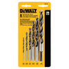 DEWALT 6-Pack High-Speed Steel Twist Drill Bit Set