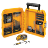 DEWALT 100-Piece Black Oxide Metal Twist Drill Bit Set