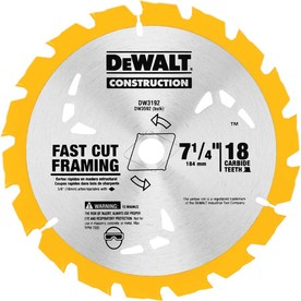 DEWALT Construction 3-Pack 7-1/4-in 18-Tooth Standard Carbide Circular Saw Blades