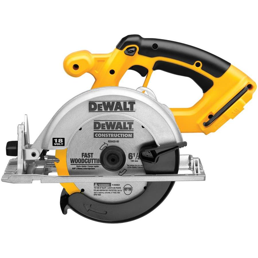 Shop DEWALT 18-Volt 6-1/2-in Cordless Circular Saw (Bare ...