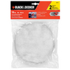 BLACK & DECKER 2-Pack 10-in Polishing Bonnets