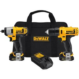 DEWALT 12-Volt Lithium Ion Drill and Impact Driver Cordless Combo Kit
