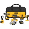 DEWALT 5-Tool 18-Volt Nickel Cadmium (Nicd) Motor Cordless Combo Kit with Soft Case