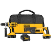 DEWALT 18-Volt Hammer Drill and Reciprocating Saw Cordless Combo Kit