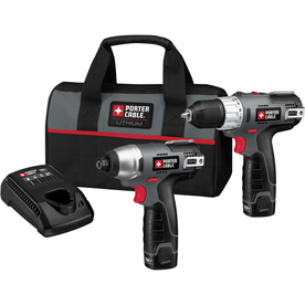 PORTER-CABLE 12-Volt Max Lithium Ion (Li-ion) Cordless Combo Kit with Soft Case