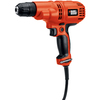 BLACK & DECKER 5.2-Amp 3/8-in Keyless Corded Drill with Case