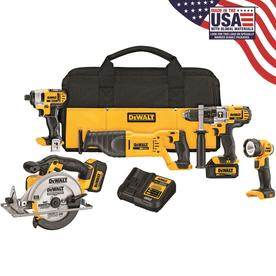 DEWALT 5-Tool 20-Volt Max Lithium Ion (Li-ion) Cordless Combo Kit with Soft Case