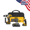 DEWALT 20-Volt Max Lithium Ion Hammer Drill and Reciprocating Saw Cordless Combo Kit