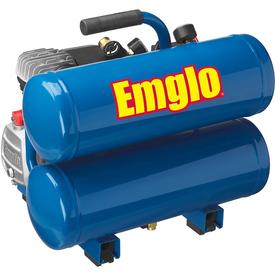 Emglo 1.1-HP 4-Gallon 125-PSI 120-Volt Twin Stack Portable Electric Air Compressor