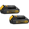 DEWALT 2-Pack 20-Volt Max 1.5-Amp Hours Power Tool Battery