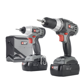 PORTER-CABLE 2-Tool 18-Volt Nickel Cadmium (NiCd) Cordless Combo Kit with Soft Case