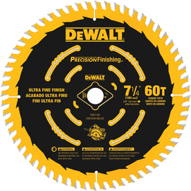 DEWALT Precision Trim 7-1/4-in 60-Tooth Standard Carbide Circular Saw Blade