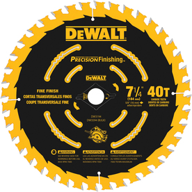 DEWALT Precision Trim 7-1/4-in 40-Tooth Standard Carbide Circular Saw Blade