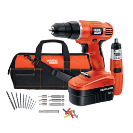 BLACK &amp; DECKER 18-Volt 3/8-in Cordless Nickel Cadmium Project Kit with Bonus 2.4V Screwdriver