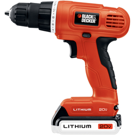 "BLACK & DECKER Number Of Batteries Included 20-Volt Max-Volt 3/8"" Cordless 20V Max Lithium Drill/Driver"