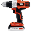 "BLACK & DECKER Number Of Batteries Included 20-Volt Max-Volt 3/8"" Cordless 20V Max Lithium Ion 2 Gear Drill Driver with Fast Charger"