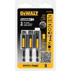 DEWALT 3-Piece Metric and SAE Hex Nut Driver Set
