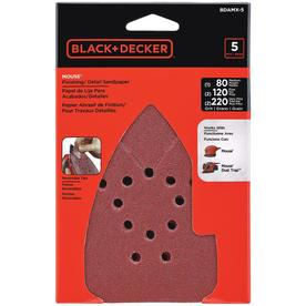 BLACK & DECKER 12-Pack 4.25-in W x 4.25-in L Multi-Grade Pack Commercial Mouse Sandpaper