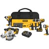 DEWALT 5-Tool 20-Volt Max-Volt Lithium-Ion Cordless Combo Kit