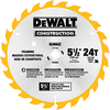 DEWALT Construction 5-1/2-in 24-Tooth Standard Carbide Circular Saw Blade