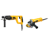 DEWALT 7/8-in 6.9-Amp Keyed Rotary Hammer with 7-in Grinder