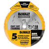 DEWALT 5-Piece Circular Saw Blade Set