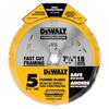 DEWALT 7-1/4-In 18T Carbide Thin Kerf Circular Saw Blade (Bulk 5 Pack) Circular Saw Blade Set