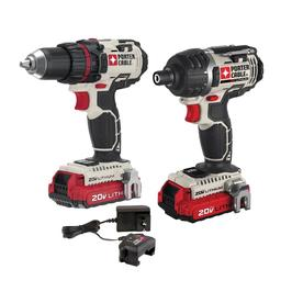 PORTER-CABLE 2-Tool 20-Volt Max Lithium Ion (Li-ion) Cordless Combo Kit with Soft Case