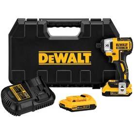 DEWALT 20-Volt Max Lithium Ion (Li-ion) 1/4-in Cordless Variable Speed Brushless Impact Driver with Hard Case