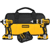 DEWALT 2-Tool 20-Volt Max Lithium Ion Brushless Motor Cordless Combo Kit with Soft Case