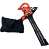 BLACK & DECKER 12-Amp 250-MPH Medium-Duty Corded Electric Leaf Blower with Vacuum Kit