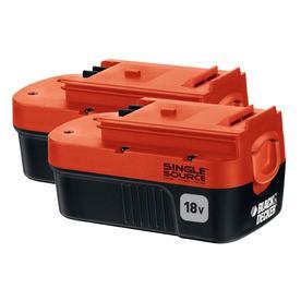BLACK & DECKER 2-Pack 18-Volt 1.2-Amps Rechargeable Nickel Cadmium (Nicd) Cordless Power Equipment Battery