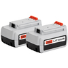 BLACK & DECKER 2-Pack 36-Volt Rechargeable Lithium Ion (Li-Ion) Power Equipment Batteries