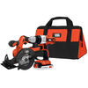 BLACK & DECKER 20-Volt Lithium Ion (Li-Ion) Motor Cordless Combo Kit with Soft Case