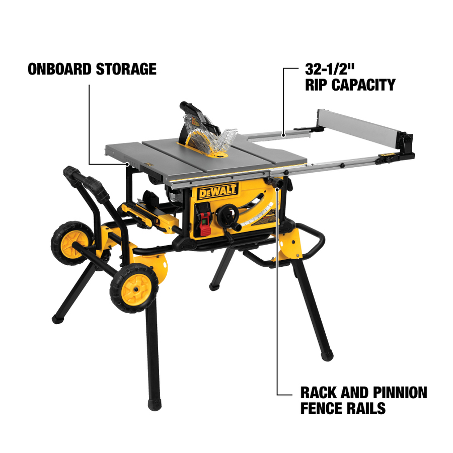 Shop dewalt 10 in table saw at Table saw fence reviews