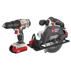 Shop PORTER-CABLE 20-Volt Lithium Ion Cordless Combo Kit with Soft