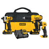 DEWALT 3-Tool 20-Volt Max Lithium Ion (Li-ion) Cordless Combo Kit with Soft Case