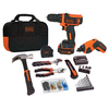 BLACK & DECKER 2-Tool 12-Volt Lithium Ion (Li-ion) Brushed Motor Cordless Combo Kit with Soft Case