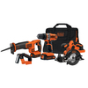 BLACK & DECKER 4-Tool 20-Volt Max Lithium Ion (Li-ion) Cordless Combo Kit with Soft Case