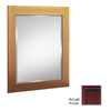 KraftMaid 30-in H x 21-in W Cabernet Rectangular Bathroom Mirror